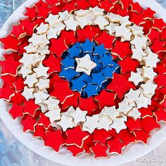 And it helps that these cookies consist of red, white, and blue stars. Not sure if they're all the same size.