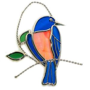 Like butterflies, birds also tend to be a common suncatcher motif. You'll see a few of these.