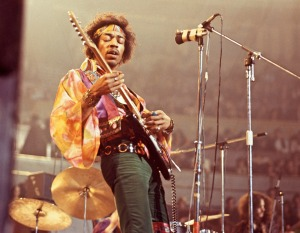"""Purple haze, all in my brain/Lately things just don't seem the same,/Acting funny, but I don't know why,/'Scuse me while I kiss the sky."" - from ""Purple Haze"" (1967)"