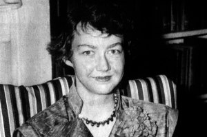 While Flannery O'Connor's writings reflected her Catholic beliefs, she didn't write the kind of glurge worthy Christian stuff you see in today's Christian film industry. No, she had her characters go to a state of divine grace through pain, violence, and ludicrous behavior in the pursuit of the holy. One story involves a whole family getting stopped on the road and eventually killed by thugs. Or one pertaining to a hermaphrodite showing his or her, well, nevermind.