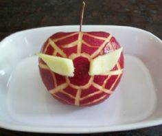 Because it's an apple with Spider Man's face carved into it. Portable but probably takes some time to make.