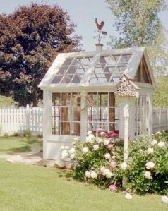 This one consists of mostly windows. But this looks quite quaint and rustic for any country garden.