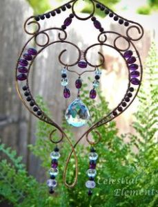 Well, this is wonderful. Love the sparkly beads on this. Guess it shimmers in the sunlight.