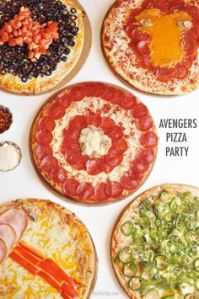You have to like how which Avenger goes with which topping composition. Not sure if I'd want to taste the Hulk's.