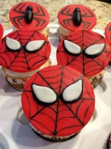 Well, at least these have either webs and spiders on them. Still, if they're red, they're from Spider Man.