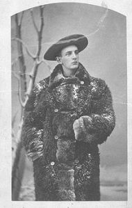 As a fur trader, James Willard Schultz lived among the Blackfoot Indians where he married, had a son, and was adopted into the tribe. Is also well known for guiding and outfitting local hunters at what is now Glacier National Park where he explored an named many of the features.