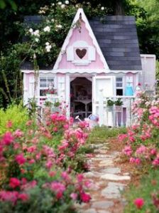 This one even has a heart on the roof. Yes, it looks like something a little girl might design. Well, if it wasn't a garden shed.