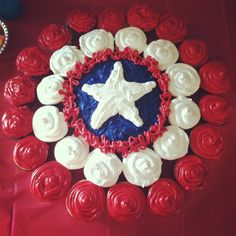 Well, at least the red and white outer circles are. Not sure about the blue cake with the star in the middle.