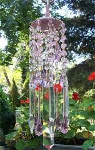You see a lot of crystal wind chimes like these. Sure it's beautiful. But it's probably quite delicate, too.