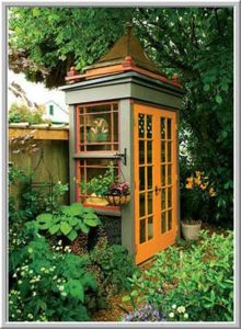 Sure this one may look like a multi colored phone booth. But it's for plants.