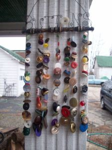 This one consists of chimes that have buttons strung on them. And yes, this is pretty cool if you ask me.