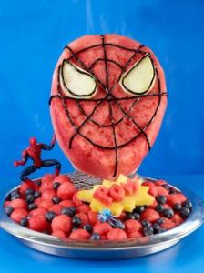 This one has a watermelon Spider Man head along with some blueberries mixed in. It also has sound effects in it, too.