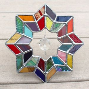 Well, it's in a star shape with a crystal in the center. Love the colors though.