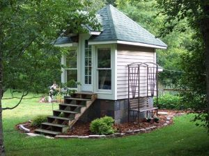 Yes, it's a little small. But it sure looks quite lovely in a garden and quite homey.