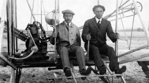 Funded by their Dayton, Ohio bicycle shop, Wilbur and Orville Wright would soon create a heavier than air flying machine that would be among the first to stay in flight in 1903. Sure there may be some controversy about whether they made the first flight, but the Wright Brothers have pictures of theirs.