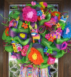 Well, this sure puts you in the fiesta spirit. Like the flowers and pinata on this.