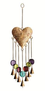 Well, this is strung on chains, color stones, and bells. Nevertheless, this is lovely.