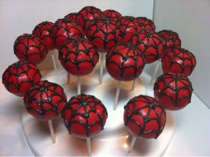 Since these webs have red underneath, they're Spider Man. But they're certainly not for arachnaphobes.