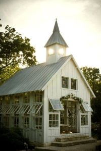 Well, Pinterest says this was an old barn. Still, love what they did with it, especially how they added the windows.