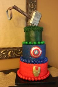 Like how they went with Thor's hammer at the top. Not sure if the green layer is for the Hulk though. But I wouldn't be surprised.
