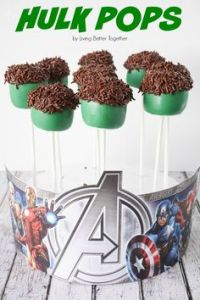 Not sure are marshmallow or cake pops. Either way, they seem rather easy to make since they're green with sprinkle hair.