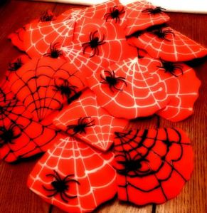 Yes, this is Spider Man spider web candy bark. I know because it's red.