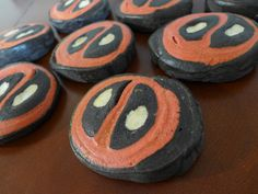 These are cookies with Deadpool's face on them. But I'm sure non-fans wouldn't notice it.