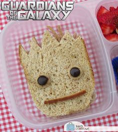 No, I don't mean Groot as a sandwich. I mean a sandwich that looks like Groot. There's a difference.