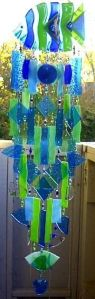 Well, this one has a fish on top of all these chime pieces. And all in green and blue.