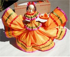 To be fair, cornhusk dolls were also prominent in the US. However, this one is dressed as a Mexican dancer.