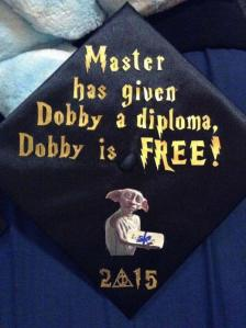 Yes, these caps are very creative. Who knew that Dobby needed a diploma to be freed from the Malfoys? Oh, wait he needed a sock.