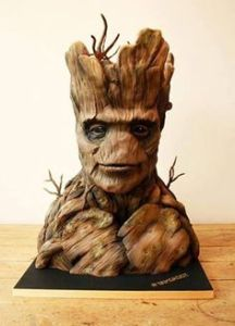 Yes, this is a cake bust of Groot's head. Professionally made and probably rather expensive.