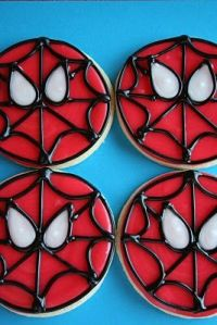 These are sugar cookies with icing Spider Man faces on them. Still, I'm sure any fan will love them.