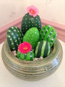 I have to admit, painting rock cacti is pretty creative. I recommend this for Chicanos who might celebrate Cinco de Mayo in my neck of the woods.