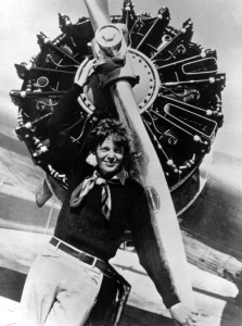 While she was only a passenger in her first Transatlantic flight, Amelia Earhart soon became the first woman to fly across the Atlantic solo. However, her attempt to fly around the world didn't turn out so well since her plane hasn't been seen since 1937.