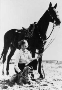 While some little girls might wish for a pony at some point their lives, Velma Bronn Johnston led a campaign to stop the eradication of free roaming horses on the American landscape. She was instrumental in passing legislation to stop using aircraft and land vehicles to stop their inumane capture.