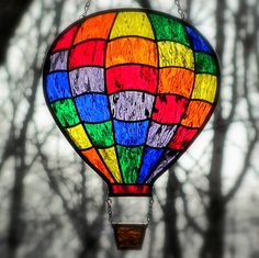 Yes, hot air balloons can be wonders in the sky like this one. But you have to love these colors.