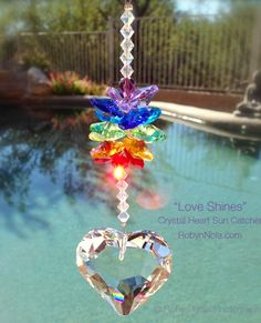 This one consist of a rainbow and a crystal heart. So beautiful.
