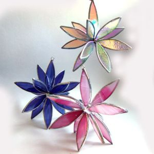 Well, these are 3-dimensional suncatcher flowers. But they're nevertheless quite pretty and probably delicate.