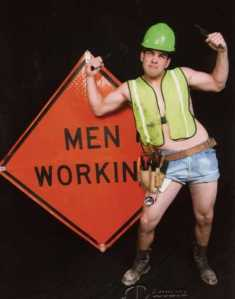 Now that has to be one of the sluttiest PennDOT workers I've ever seen. Guess he's a male stripper by night and performs at bachelorette parties as Rock Hard Rod.