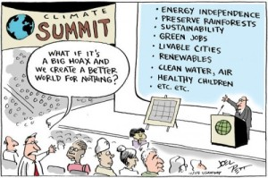 This is a political cartoon pertaining the the Climategate Scandal which involved some hacked e-mails taken way out of context. Investigations have cleared the scientists involved of wrongdoing, however. But don't tell that to global warming deniers.
