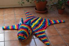 This is a pinata skin rug which I don't think is possible to do. Still, I think its hilarious.