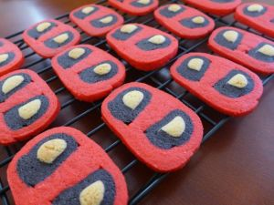 Yes, this is another set of Deadpool cookies. But these mask ones look quite different from the others. So they count.
