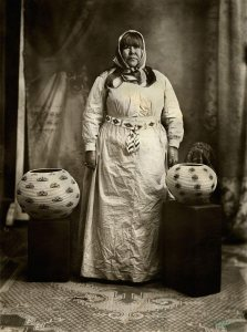 Though she spent her earlier years cooking and doing washing for miners and their families, Dat So La Lee would gain recognition for her basket weaving when she worked for a couple of art dealers who discovered the quality of her work. Not sure what she got out of the baskets she sold.