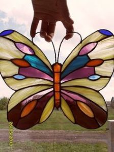 This one is so lovely with the colorful spots and stripes. Not sure if there's a real butterfly that looks like this.