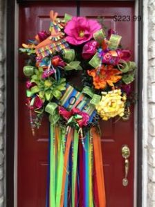 It also has a pinata near the top. Like the flowers on this one, especially the pink one.