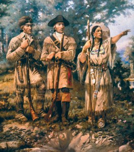 While no contemporary portrait exists of Sacagawea, familiarity with the western landscape and several Indian tribes proved vital for the Lewis and Clark expedition. One highlight was when she came to her Shoshone people and broke down in tears when trying to translate when she discovered that the the leader was her brother she hadn't seen in years.