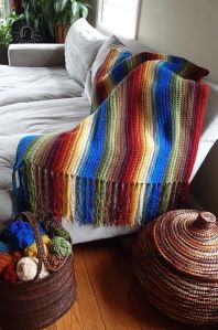 Yes, I know a serape is a blanket. But I don't know if this counts as one. Still, it does have a serape color scheme.