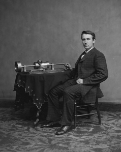 Thomas Edison first gained notice with his phonograph which earned him the nickname,