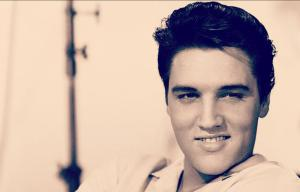 I'm not a very big Elvis fan. But I have to admit that it's no wonder he was seen as a sex symbol during the 1950s. But I guess drugs , booze, and peanut butter, banana, and bacon of sandwiches put an end to that.